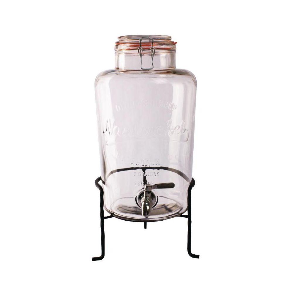 carafes-et-pichets-distributeur-deau-85l-retro-en-verre-avec-socle-olympia-ck939